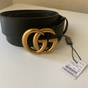 💘💘 NEW GUCCI BELT 100% AUTHENTIC GG GOLD LEATHER